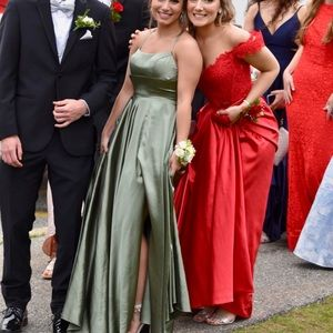 Faviana Sage Green Prom Dress